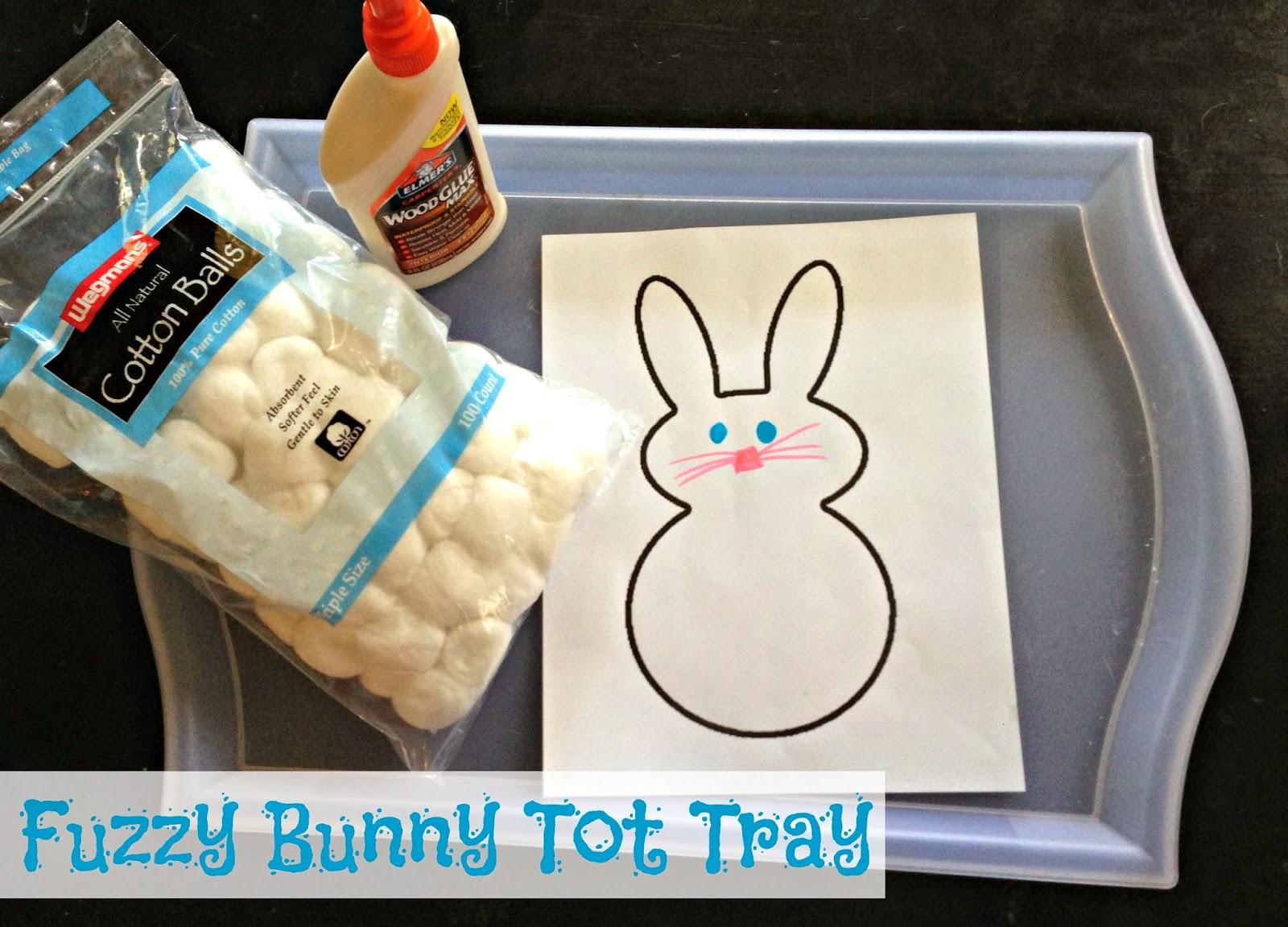 Easter bunny tot tray! @blogginginpa