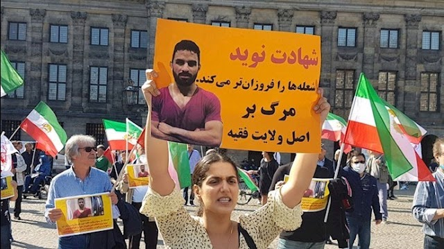 Iranians, MEK Supporters Across the Globe Protest Navid Afkari's Execution