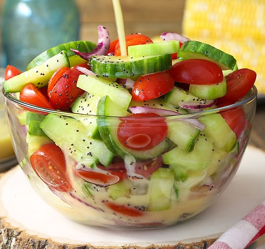 Cucumber Tomato Salad #summer #veggies