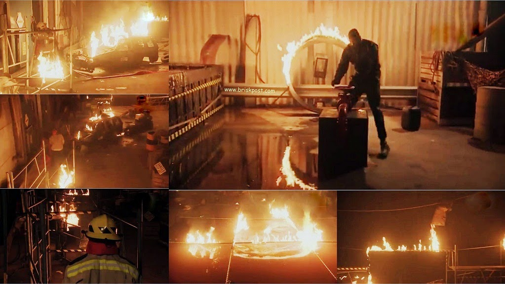 Fear Factor Darr Ka Blockbuster Climax stunt with fire and blasts all around