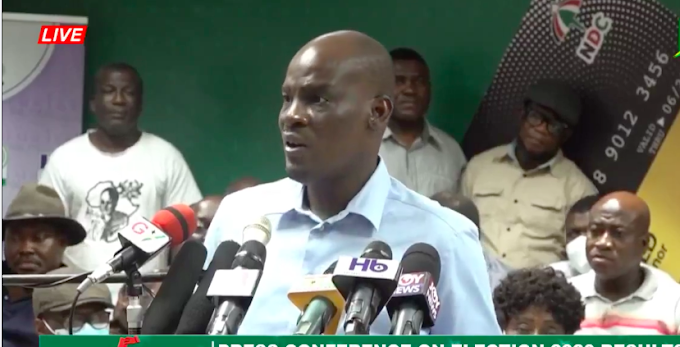 Election 2020: NDC rejects presidential results