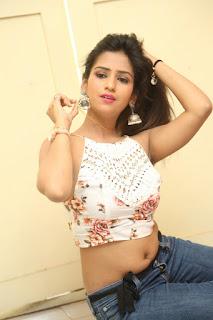 Deekshita Parvathi in a short crop top and Denim Jeans Spicy Pics Beautiful Actress Deekshita Parvathi January 2017 CelebxNext (206).JPG