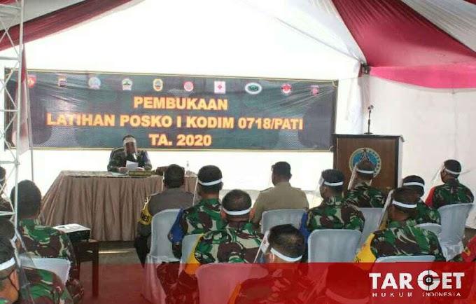 Soliditas TNI, Kodim Pati Gelar Latihan Operasi Olah Yudha dan Pengendalian Operasi Posko