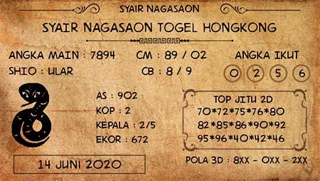 Prediksi HK Minggu 14 Juni 2020 - Nagasaon