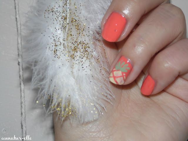Tuto : nail-art ananas facile !