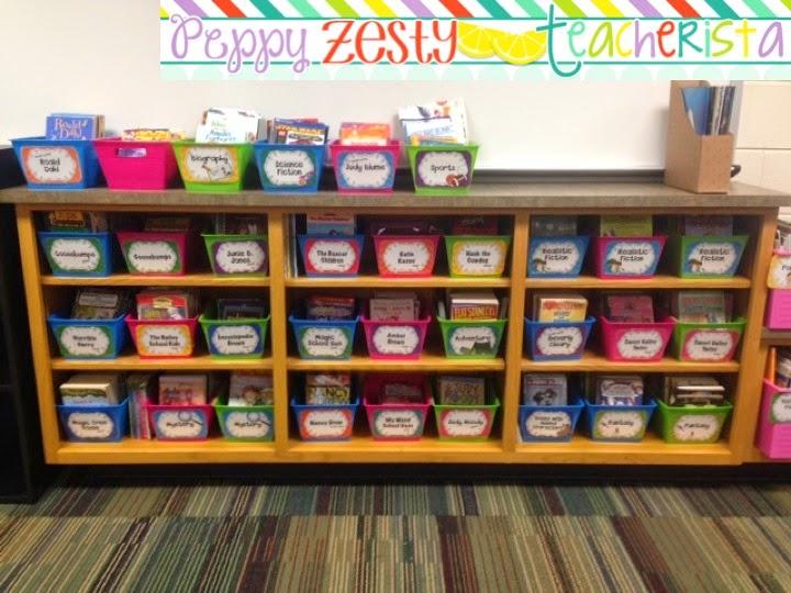 Classroom Shelves Ideas ~ Classroom library organization peppy zesty teacherista