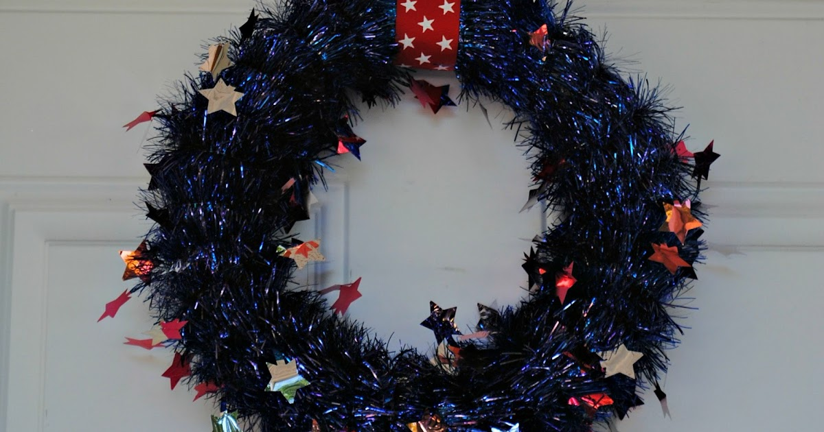Serenity Now: 4th Of July Tinsel Wreath (Last Minute