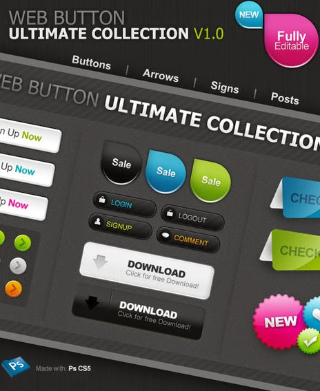 Web 2 Style Buttons
