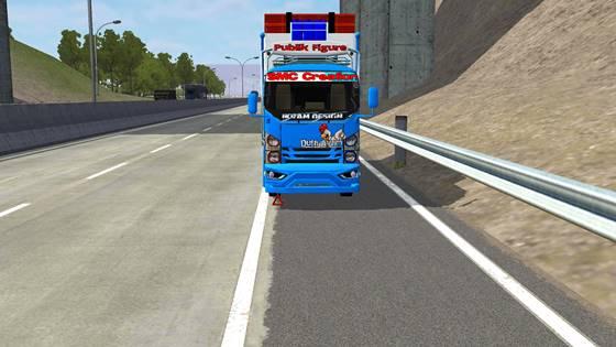 mod bussid truck isuzu nmr71 c4 muat ayam