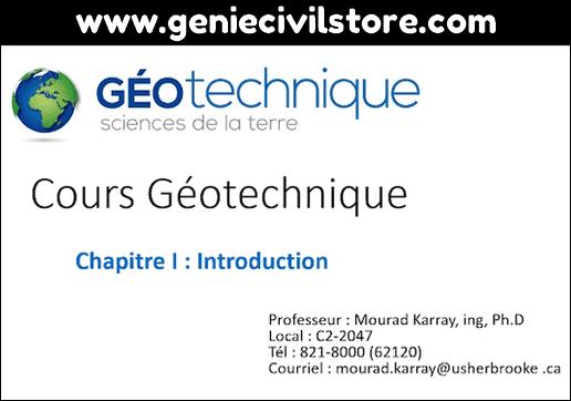 Chapitre 1 - Introduction du Cours Géotechnique