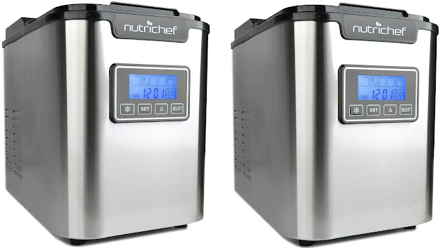 10. NutriChef Countertop Digital Ice Cube Maker