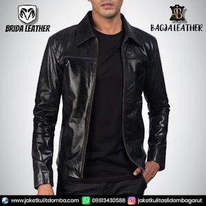 Jual Jaket Kulit Asli Garut Pria Domba Original Brida Leather B76 | WA 08813430588