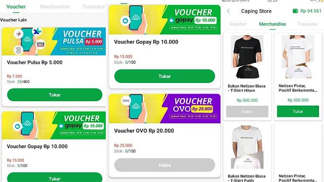 Cara Menarik Pulsa Gratis, OVO, GoPay dan Merchandise