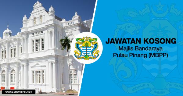 jawatan kosong kerajaan Majlis Bandaraya Pulau Pinang (MBPP) 2020