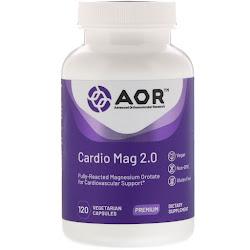 Advanced Orthomolecular Research AOR, Cardio Mag 2.0, 120 растительных капсул