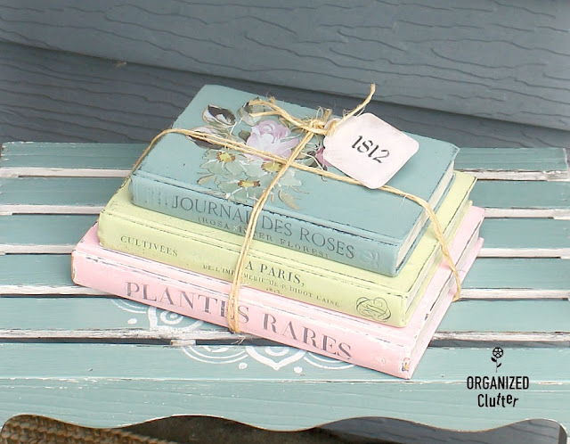 DIY Shabby Chic Book Stack