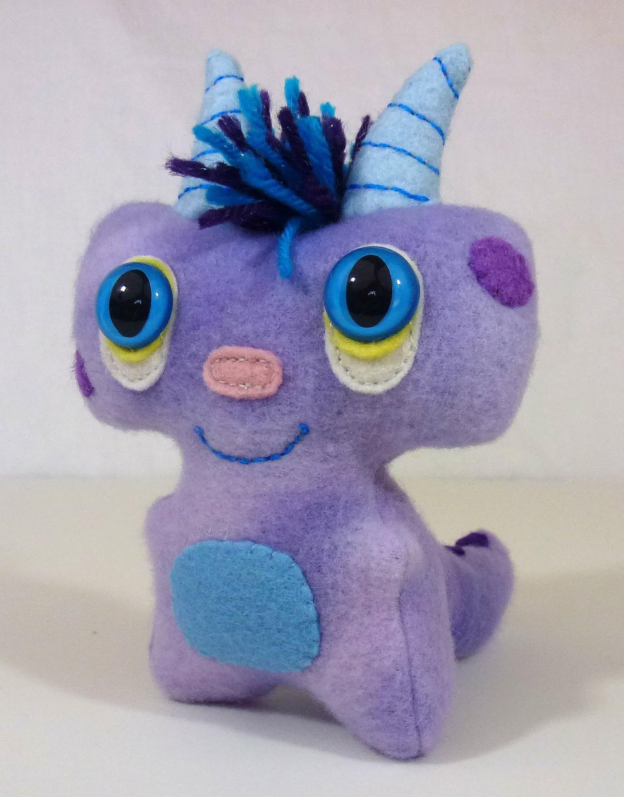 monster cute tiny toys monsters fabric alien purple sew softies leslie toy softie dolls doll