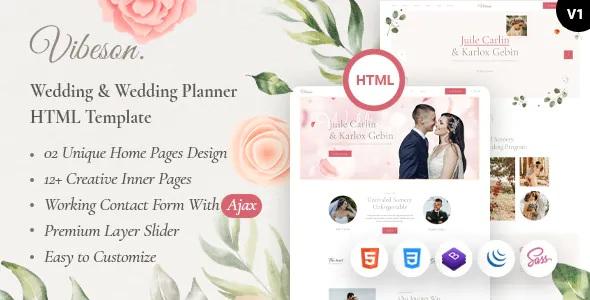 Best Elegant Wedding Love & Event Planner Photography HTML Template