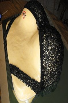 Boobs Cake with bra coverd on it in black color