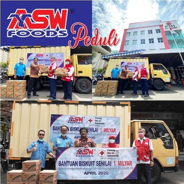 ASW Foods dan hatari Biskuit Peduli Tenaga Medis Indonesia