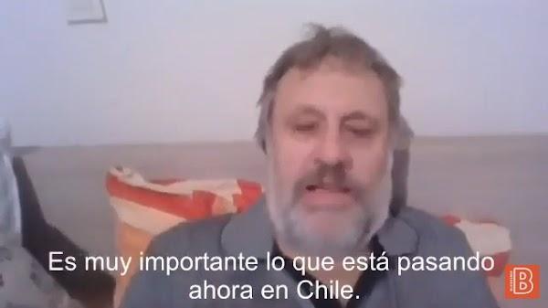 Declaraciones de Slavoj Zizek sobre Chile