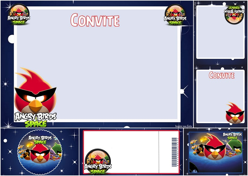 graphic about Free Printable Video Game Party Invitations named Indignant Birds Spot: No cost Printable Invites. - Oh My