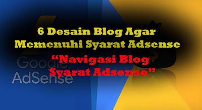 menu blog untuk memenuhi syarat google adsense