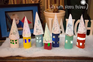 Light Up Christmas Village from Life With Moore Babies