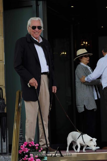 donald Sutherland con su perro Porter