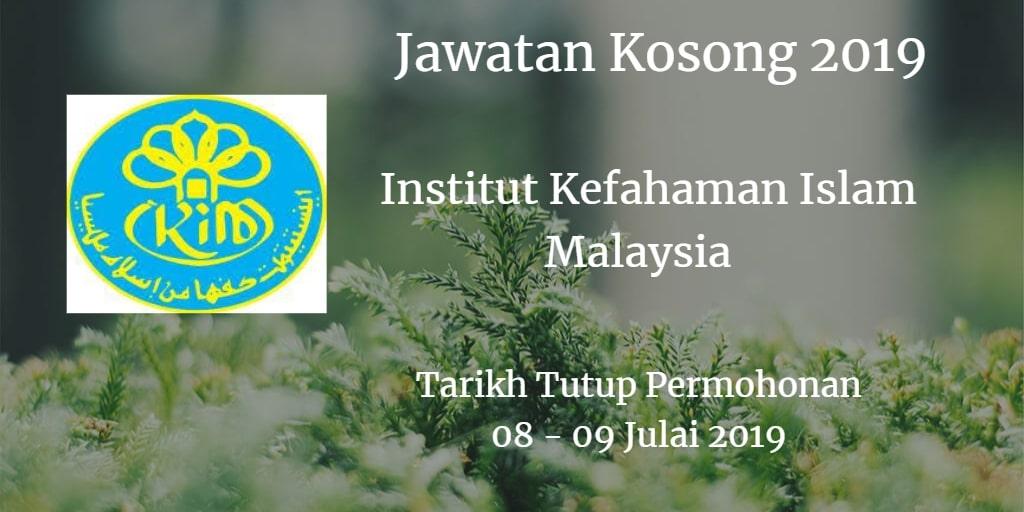 Jawatan Kosong IKIM  08 - 09 July 2019