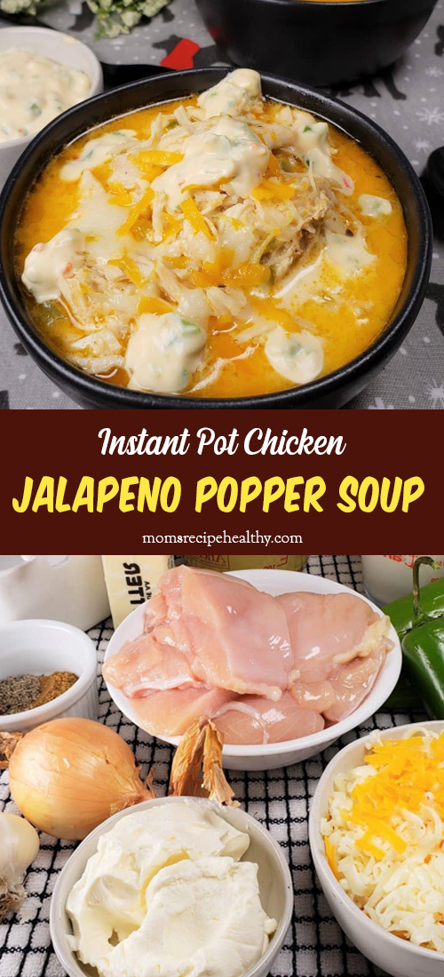 Instant Pot Chicken Jalapeno Popper Soup (Pressure Cooker)