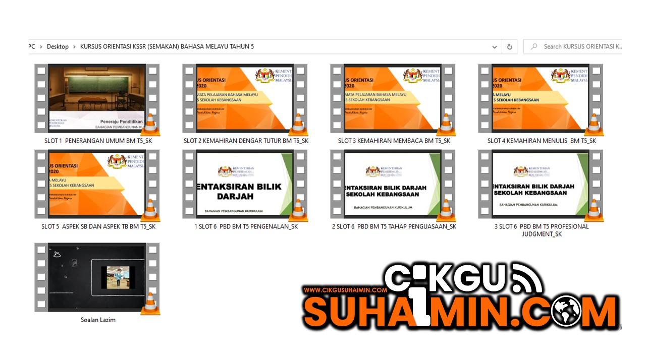 Kursus Orientasi KSSR Semakan Bahasa Melayu Tahun 5 (SK)