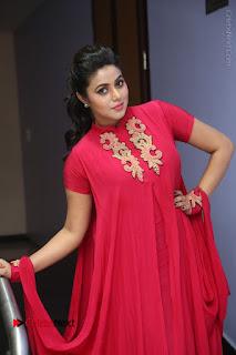 Actress Poorna Latest Stills in Red Dress at Rakshasi First Look Launch  0212.JPG