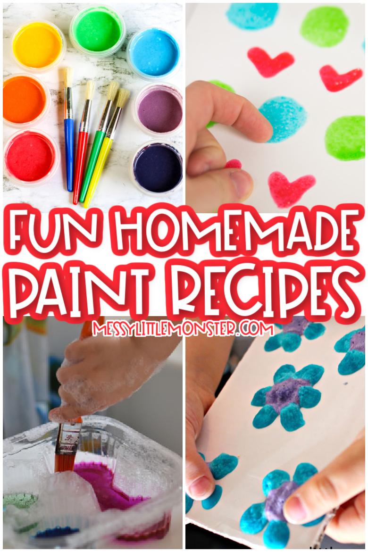 fun homemade paint recipes