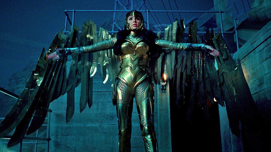 Wonder Woman 1984, Gal Gadot, Golden Armor, Wings, 4K, #7.1568