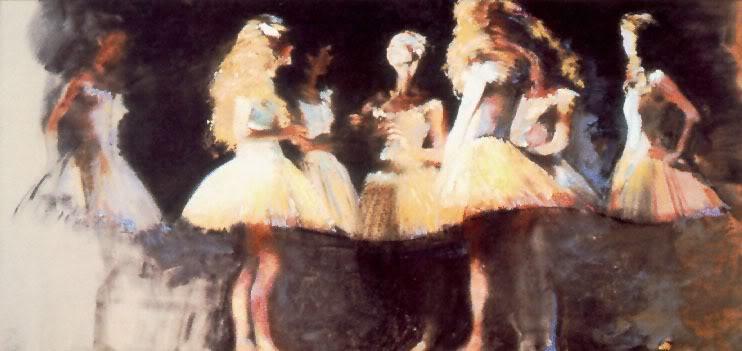 Dancers in White - Robert Heindel 1938-2005 - American painter