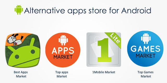 الحل 3: استعمال متجر بديل لجوجل بلاي Google Play