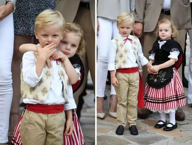Twins Prince Jacques and Princess Gabriella of Monaco
