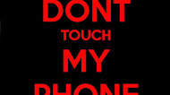 Don't touch phone mobile wallpaper