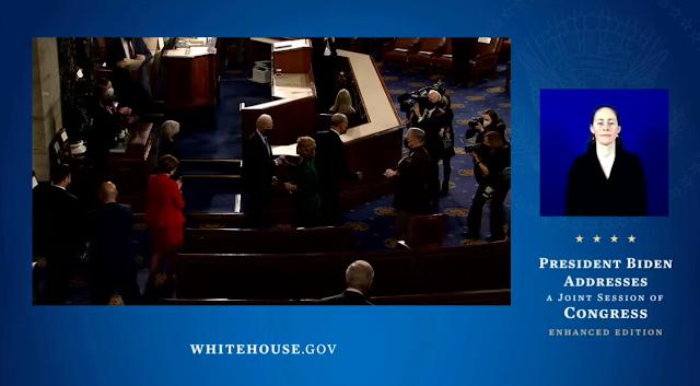 State of the Union 2021 Congress Joe Biden leaving chamber