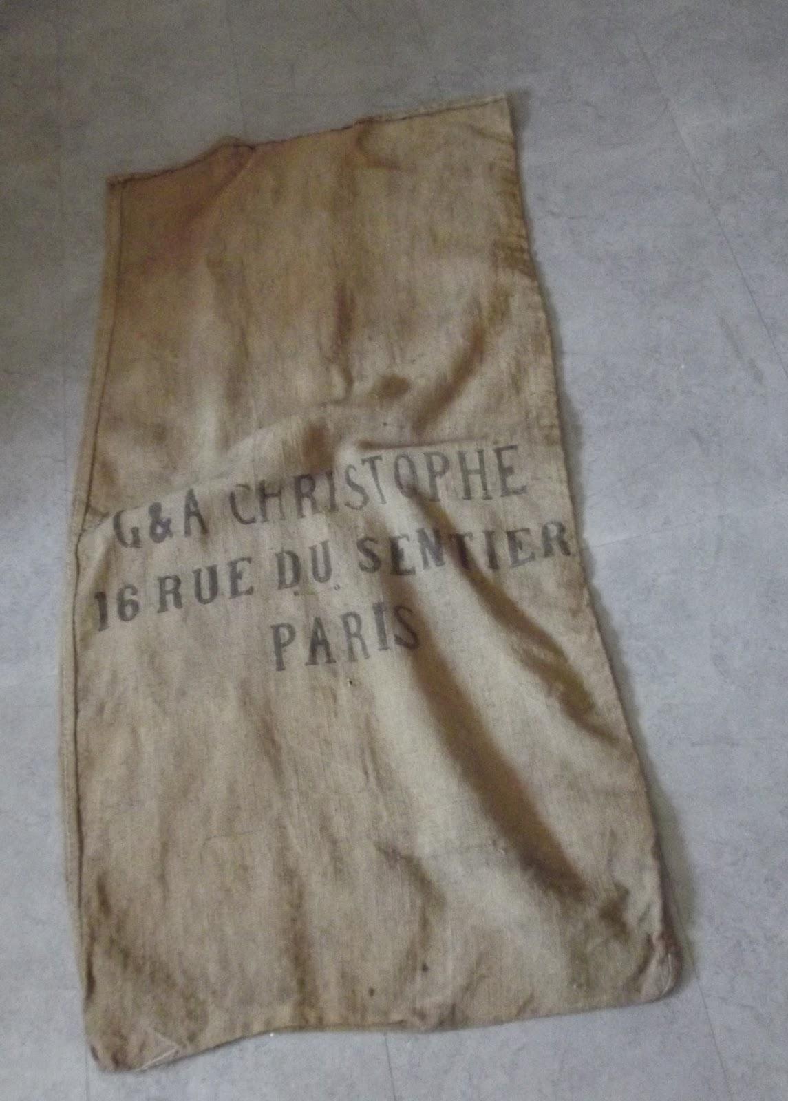 ancien sac a patates en toile de jute le sentier a paris art populaire. Black Bedroom Furniture Sets. Home Design Ideas