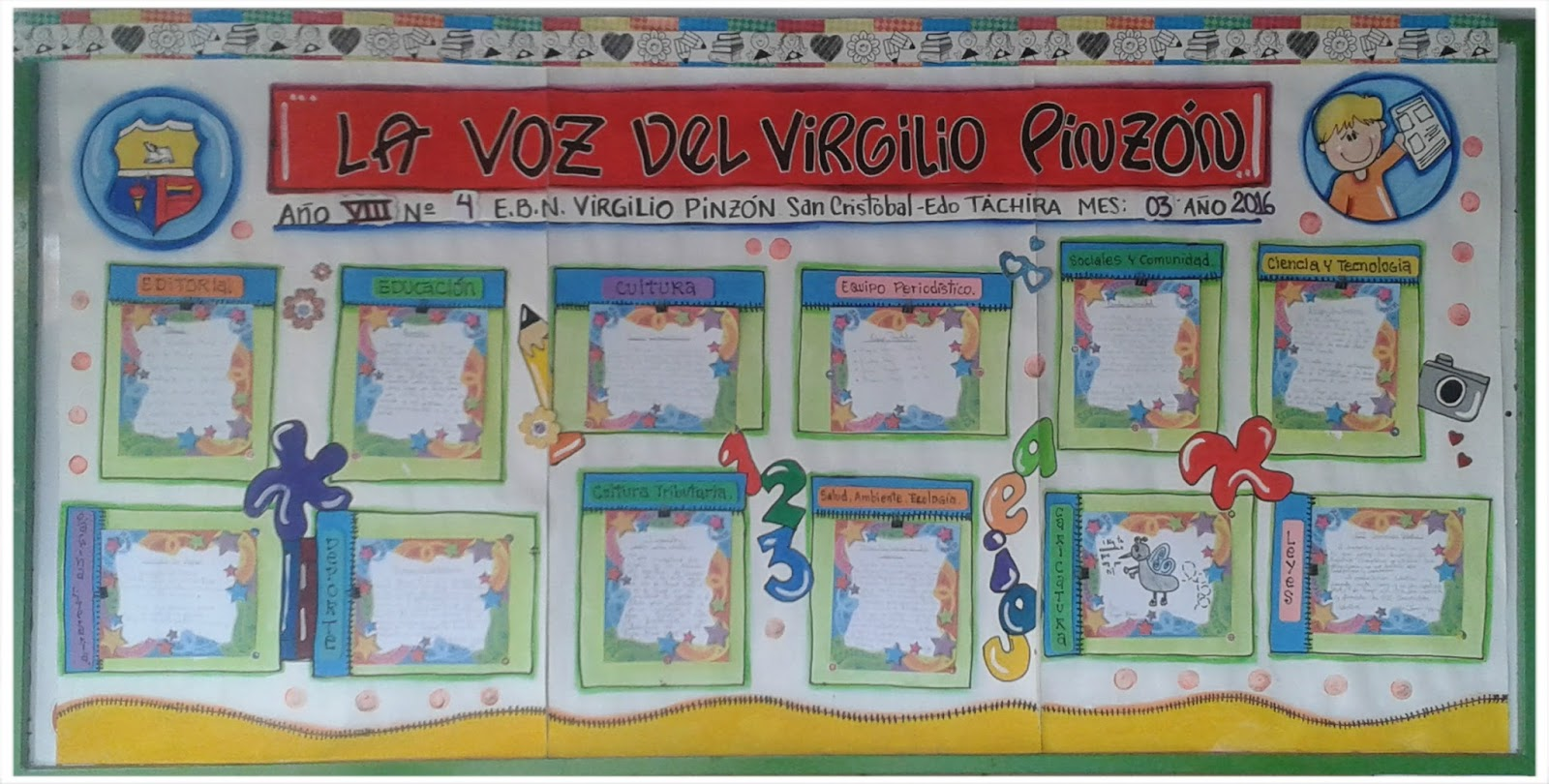 Periodico mural dedicado al colegio periodico mural por for Avisos de ocasion el mural