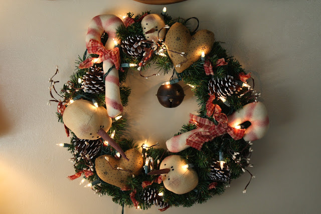 snowman wreath, prim wreath