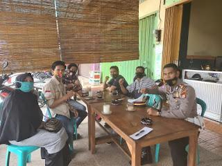 Wujud Sinergitas dengan Rekan Media dan LSM,Kasat Lantas Polres Gowa Gelar Coffe Morning