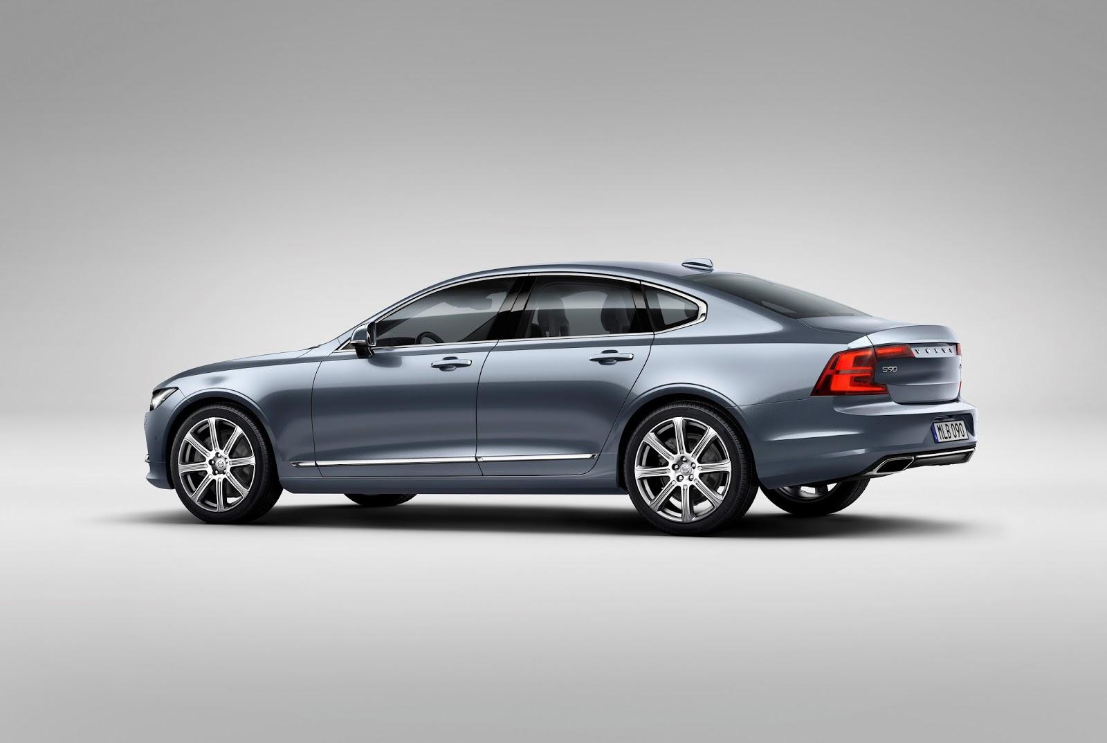 170087 Rear Quarter Volvo S90 Mussel Blue Το νέο Volvo S90 έρχεται και βάζει φωτιά στον ανταγωνισμό premium sedan, Volvo, Volvo Cars, Volvo S90
