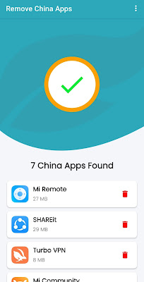 How to scan in remove china apps