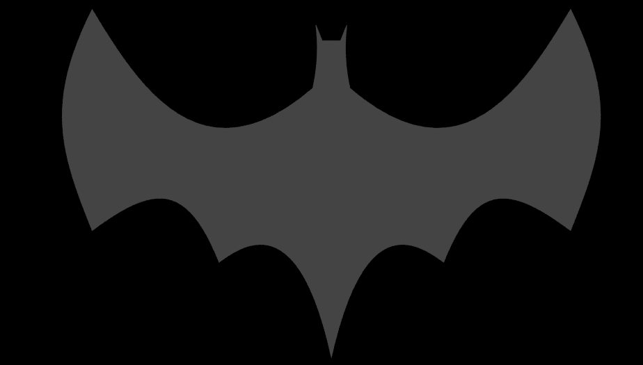 Bezier Curve Batman Logo in Blender