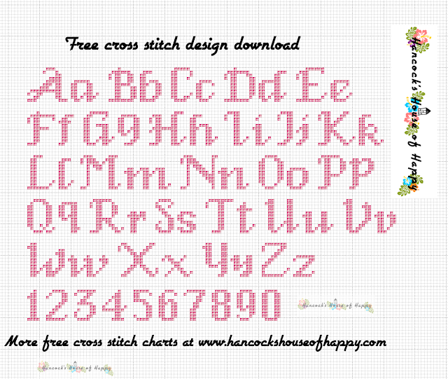 Free Elegant Cross Stitch Font Pattern to Download to Create Your Own  Samplers