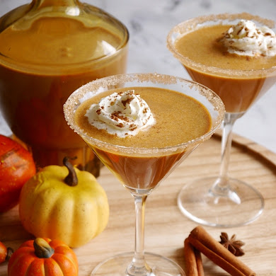 Homemade Pumpkin Spice Irish Cream Cocktail
