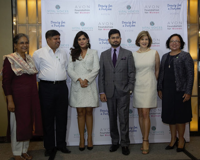 L_R Priti Patkar, Ravi Kant, Richa Chadha, Rahul Shanker, Christine Jaworsky and Gigi Scoles at The Justice Institute by Avon Foundation for Women